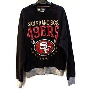 49ers black NFL pullover sweatshirt. Sz XL